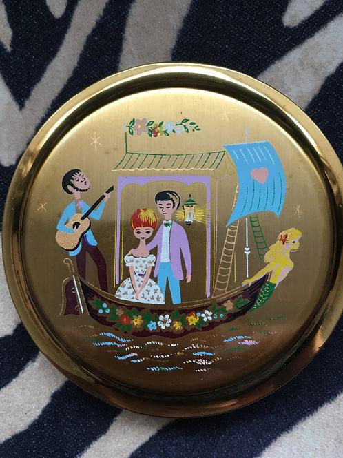 UNUSED Kitsch Souvenir of Venice Compact