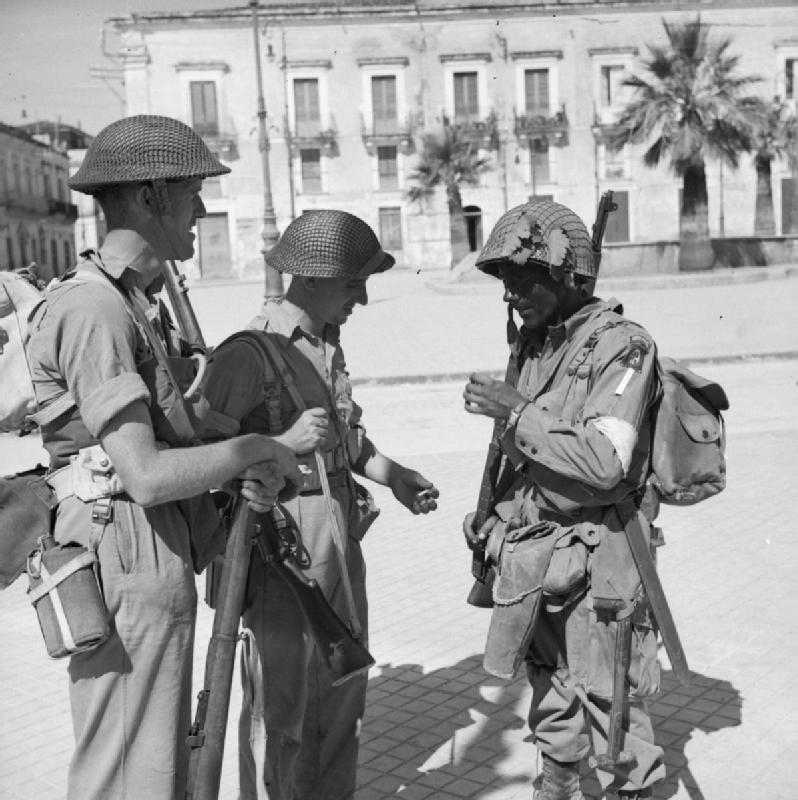 Allied soldiers in Sicily