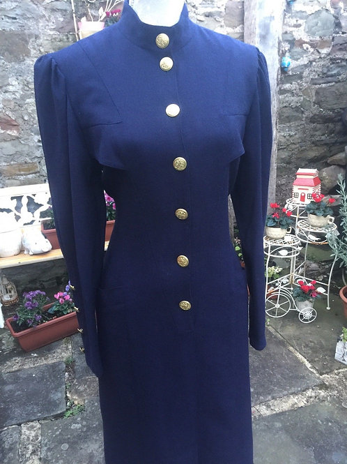 French 'Military Style 'Wool Dress