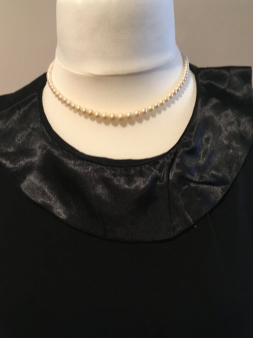 Marvella Graduated Glass Faux Pearl Necklace