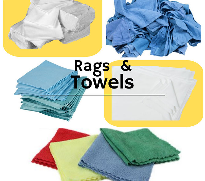 Towels for all purposes also clean room cleaning areas.