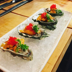 Fresh Oysters with Uni (Sea Urchin)_#visitsacramento #food #foodart #foodporn #sushi #sashimi #nigir