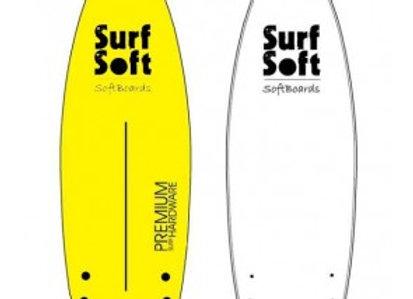 גלשן סופט SurfSoft מידה 5.9 פיש