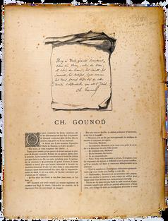 [GOUNOD]. MULNIER. Charles Gounod. Photoglyptie.