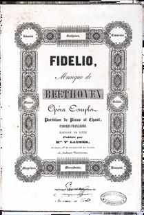 [BEETHOVEN (L.V.)]. Fidelio.