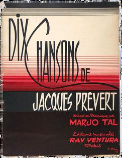 PRÉVERT (Jacques). Dix chanson.