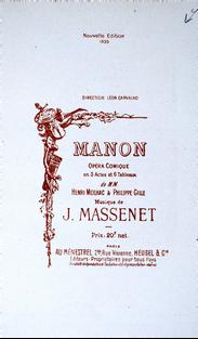 [MASSENET]. MEILHAC (Henri) et GILLE (Philippe). Manon.
