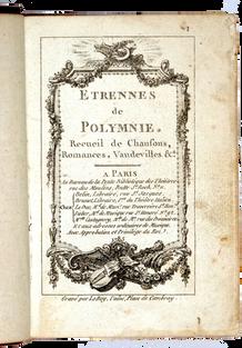 [BAUDRAIS (Jean)]. Étrennes de Polymnie.