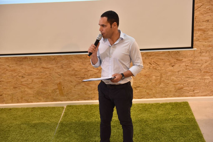 Lithuanian acceleration week final day ceremony hosted by Teddy Nehmad (תדי נחמד)