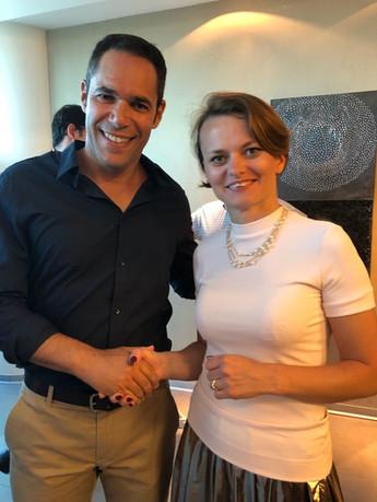 Meeting between Teddy Nehmad (תדי נחמד) and Poland Minister of Technology Mrs Jadwiga Emilewicz