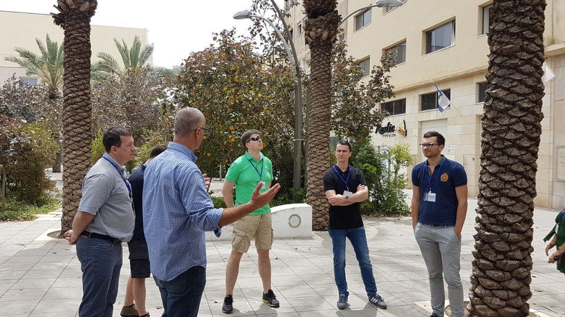 Visiting Haifa down town with Lithuanian Innovators