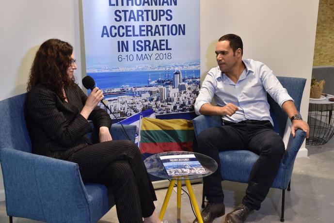 1 on 1 meetings between Lithuanian innovator and Teddy Nehmad (תדי נחמד)