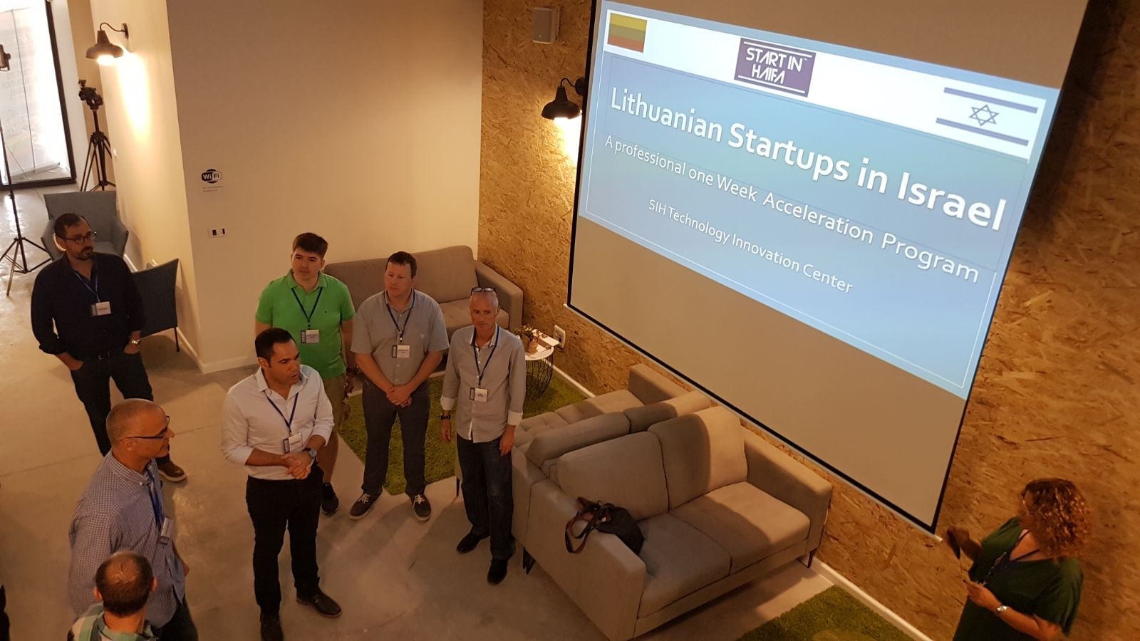 "Teddy Nehmad (תדי נחמד) and SIH team are welcoming the Lithuanian innovators to ""Start in Haifa"" innovation center"