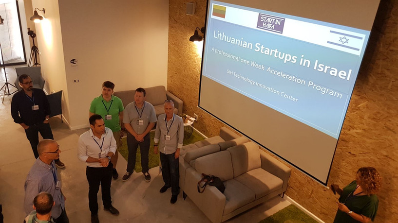 """Teddy Nehmad (תדי נחמד) and SIH team are welcoming the Lithuanian innovators to """"Start in Haifa"""" innovation center"""