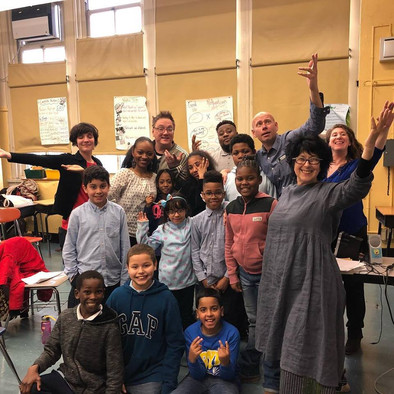 Teaching improv withTime Out Kids in the Bronx, NY