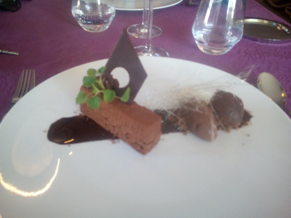 dessert au chocolat restaurant entre vignes et guarrigue