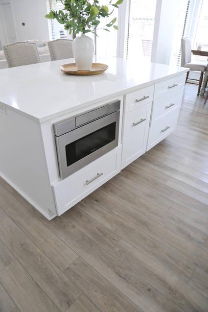 Wood Kitchen home flooring Hardwoods Quartz countertops