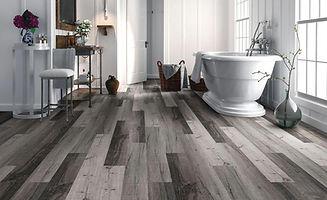 beautiful bathroom flooring grey hardwood floors