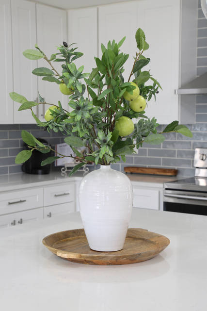 Tile Backsplash Interior Design Home Decor Accessories Floral stems Granite Quartz Countertops