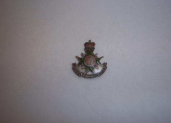 Insigne de boucle de ceinture régimentaire.