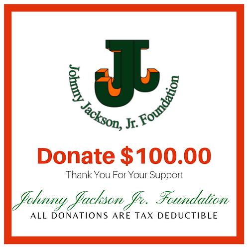 Donate $100 Dollars