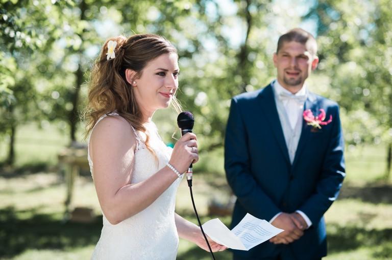 le discours de la mariée