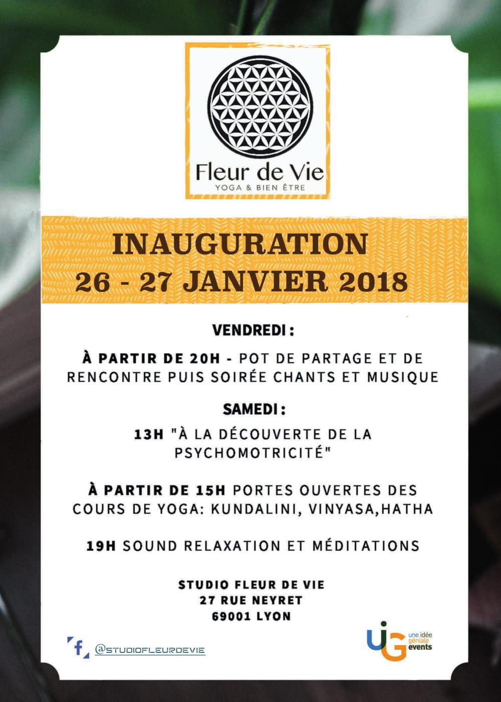 Inauguration salle de yoga Lyon