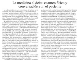 La medicina al debe: examen físico y conversación con el paciente
