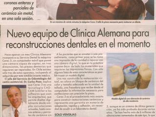 Nuevo equipo en clinica Alemana para reconstrucciones dentales en el momento