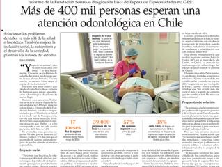 Más de 400 mil personas esperan una atención odontológica en Chile