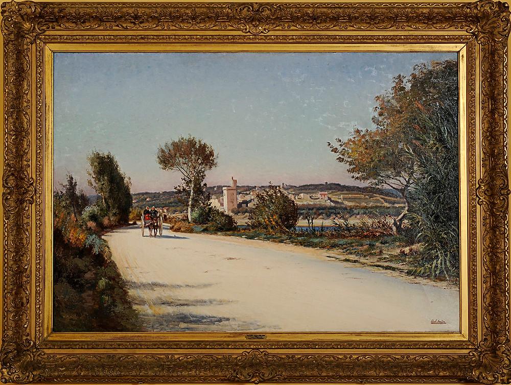 Peinture Paul SAÏN Tour Philippe le Bel Villeneuve lez Avignon