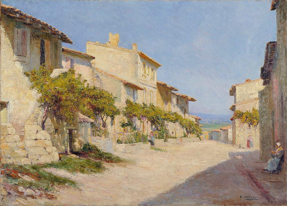 Peinture Charles Vionnet Rue de la Monnaie Villeneuve lez Avignon
