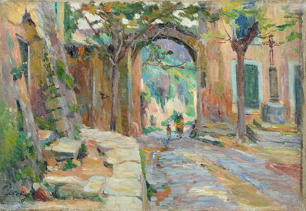 Peinture Louis MONTAGNÉ (Avignon 1879-Paris 1960) La porte de la Brèche au Angles
