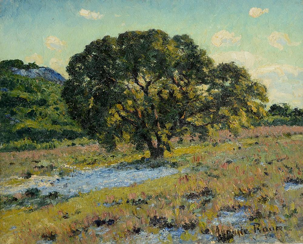 Peinture Auguste Roure - Pujaut