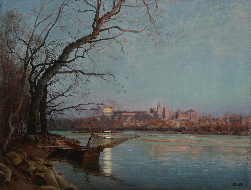 Peinture Paul SAÏN vesprée Avignon Provence