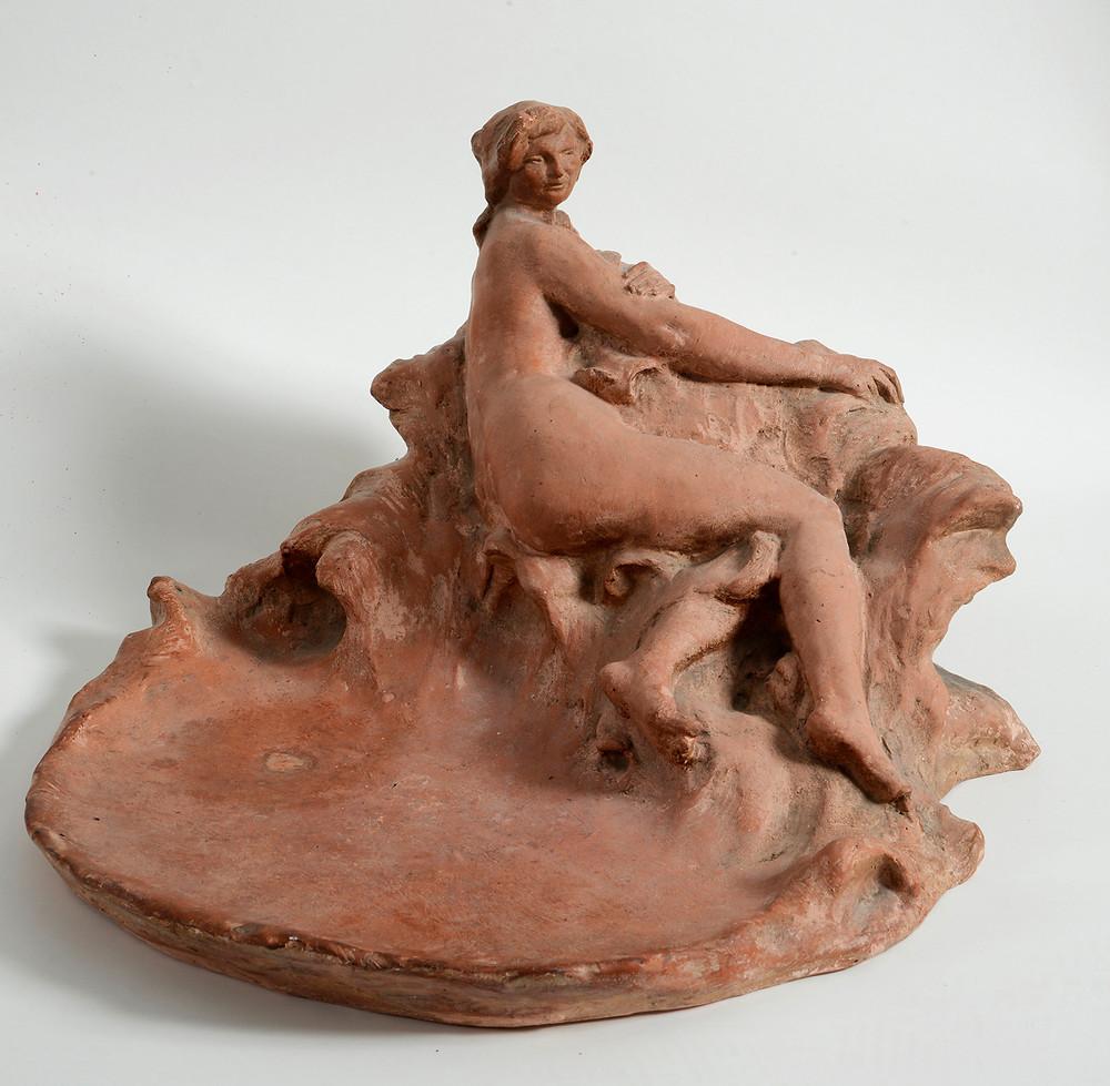 Sculpture Jean-Pierre Gras Nymphe 1911 terre cuite