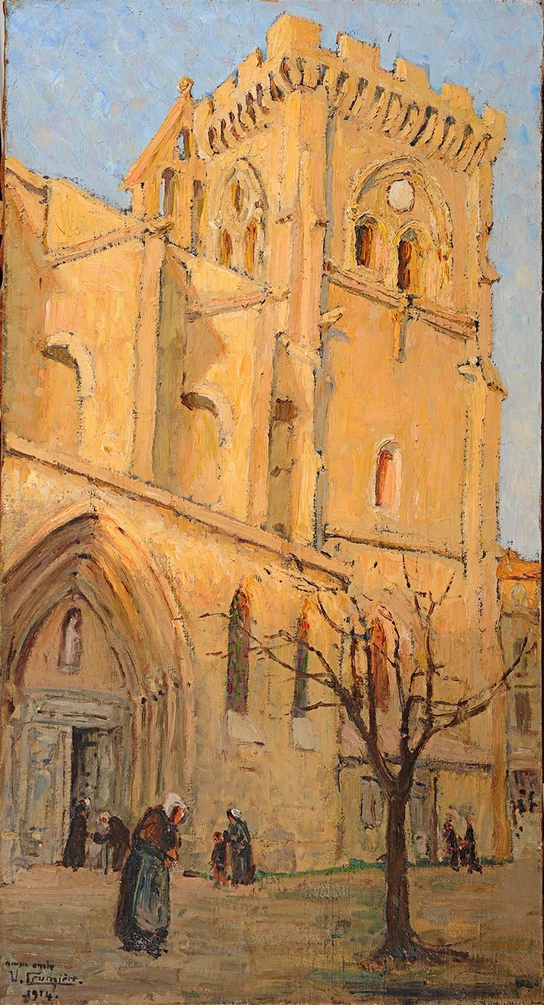 Peinture Victor CRUMIÈRE, Collégiale de Villeneuve-lès-Avignon,
