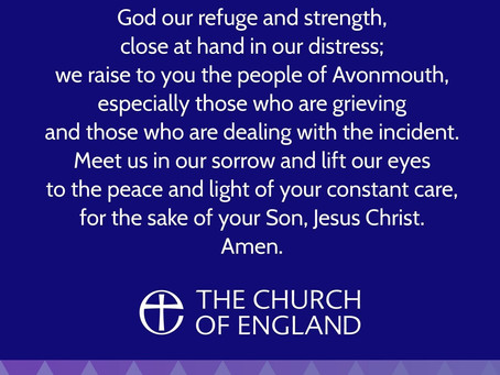 A prayer for the people of Avonmouth