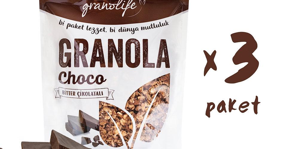 3'lü Süper Paket - Granola Choco Mix 350g