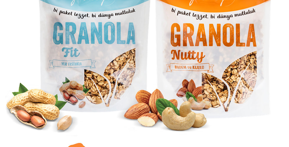 2'li Paket - Granola Fit Mix ve Nutty Mix 350g