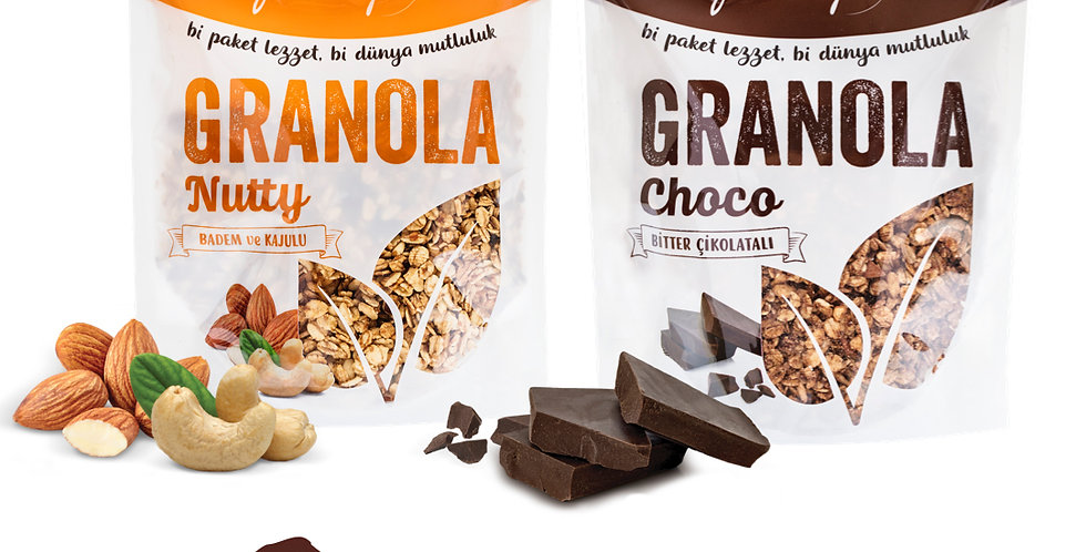 2'li Paket - Granola Nutty Mix ve Choco Mix 350g