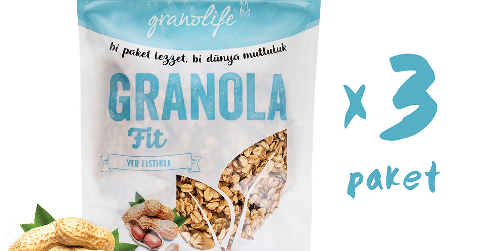 3'lü Süper Paket - Granola Fit Mix 350g