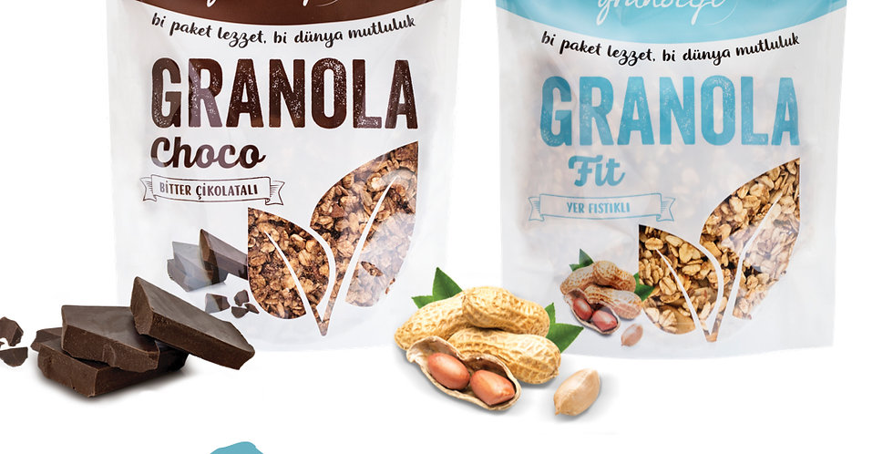 2'li Paket - Granola Choco Mix ve Fit Mix 350g