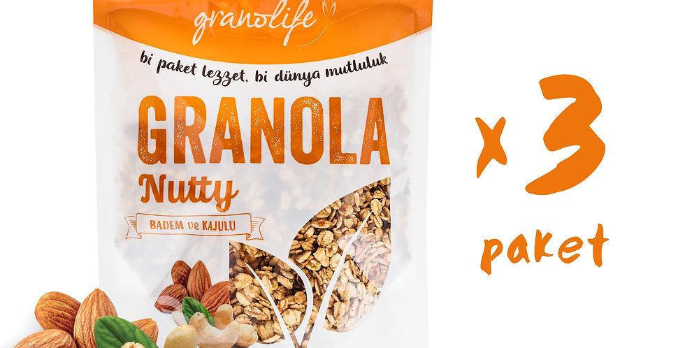 3'lü Süper Paket - Granola Nutty Mix 350g