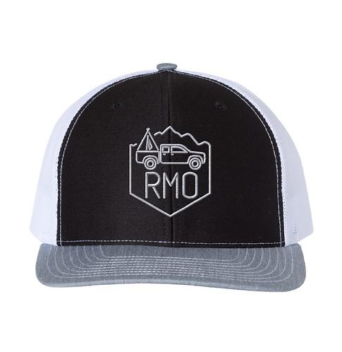 RMO Black & White Snapback Mesh Hat