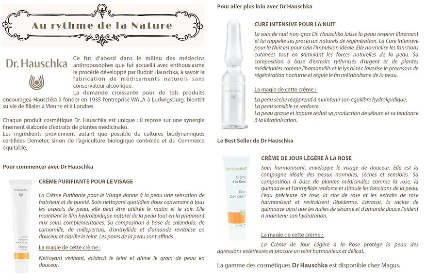 Dr Hauschka bio cosmetics Magus beauty salon face care