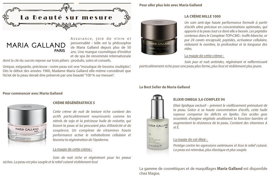MariaGalland cosmetics Magus beauté Roquefort les Pins soins visage face care