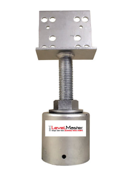 Screw on Round Pile Top - Vertical Plate Large