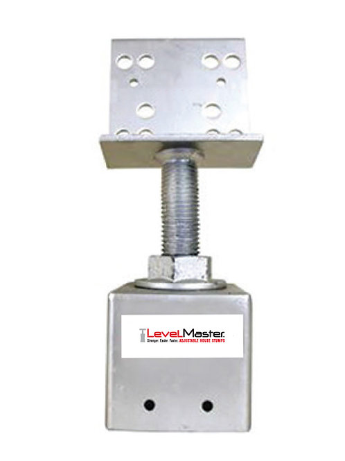 Screw on Square Pile Top - Vertical Plate Large
