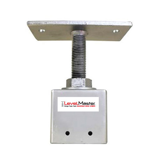 Screw on Square Pile Top - Straight Plate, 2 hole